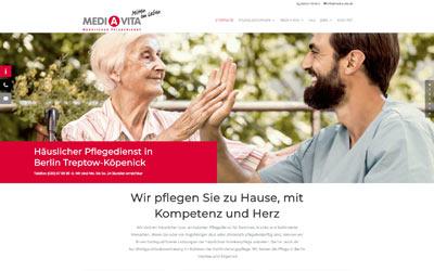 Pflegedienst mit WordPress