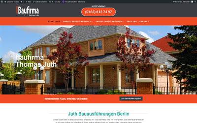 Website Design-Vorlage Baufirma