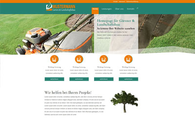 Fertige Beispiel Webseiten Für Branchen Homepage Vorlagen