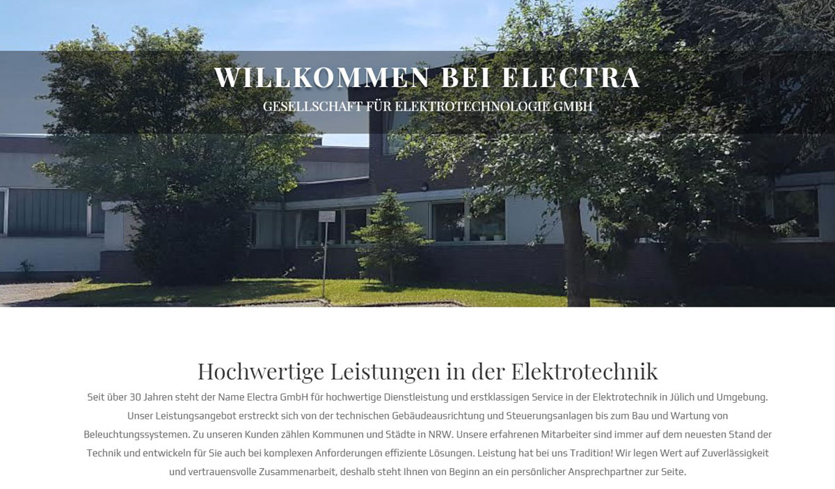 Firmen homepage Design