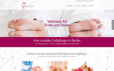Homepage Fußpflege