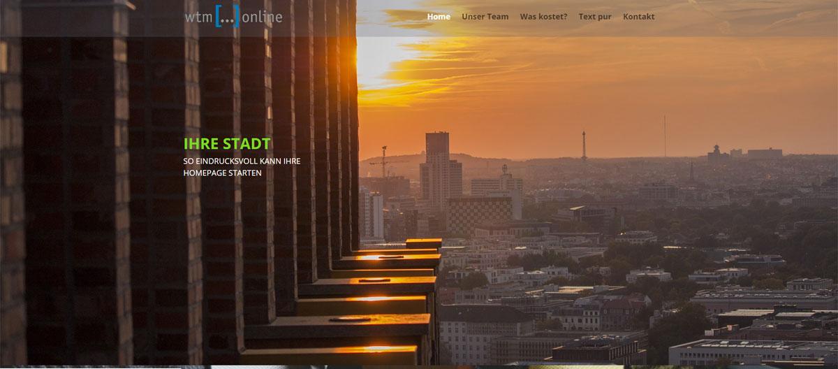 Beispiel Homepage-Vorlage Image, preisgünstig für PC, Handy und Tablet