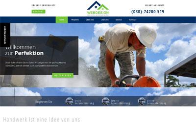 Beispiel Handwerker Homepage, preisgünstig für PC, Handy und Tablet