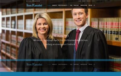 Homepage Rechtsanwalt