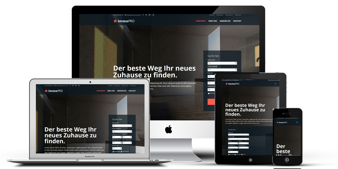 Homepage Beispiel Immobilien Makler Website Erstellen Lassen