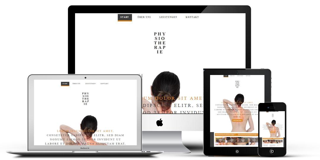 Physiotherapie Homepage erstellen lassen, günstige Preise, Vorlage