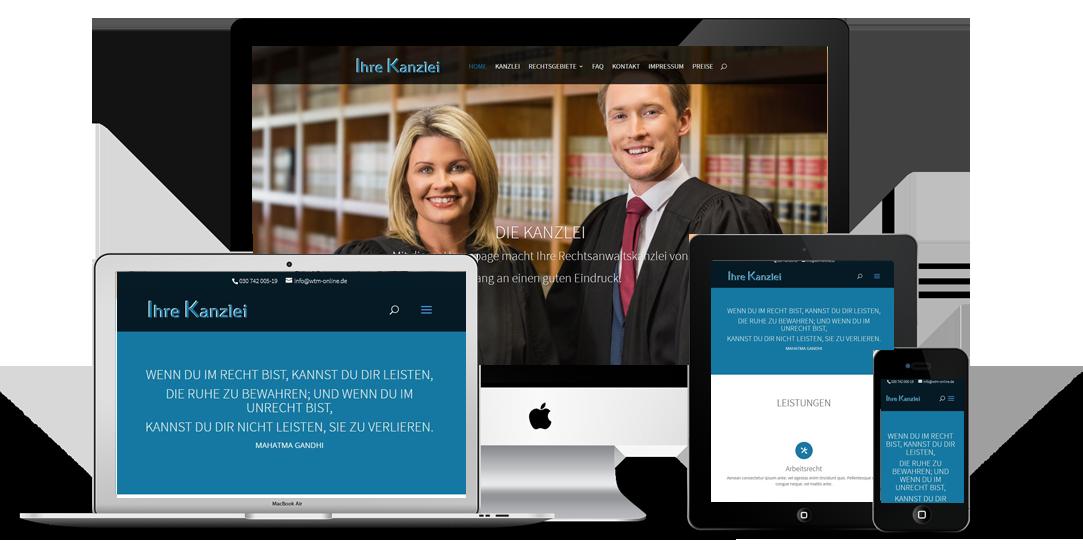 Homepage für Rechtsanwälte